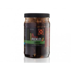 Sweet and Sassy Pickles with Chipotle