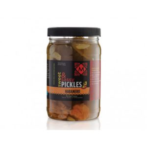Sweet and Sassy Pickles with Habaneros